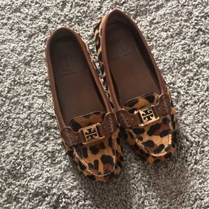 Tory Burch Leopard Loafers